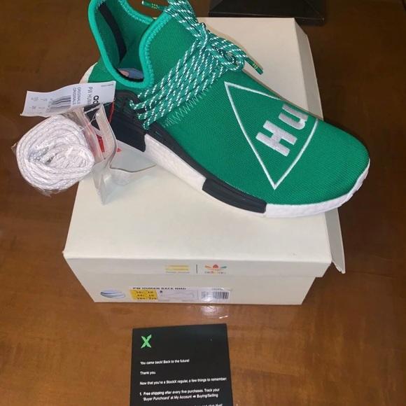 new concept 8ef6f 67188 adidas NMD R1 Pharrell Human Race Green NWT